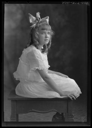 Primary view of object titled '[Portrait of Girl with Hair Bow]'.
