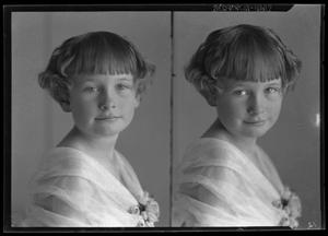 Primary view of object titled '[Two Portraits of Girl]'.