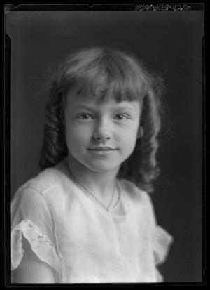 Primary view of object titled '[Portrait of Girl]'.