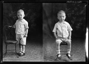 Primary view of object titled '[Portraits of Boy]'.