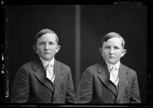 Primary view of object titled '[Portraits of Boy with Tie]'.