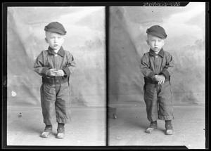 Primary view of object titled '[Portraits of Boy with Hat]'.