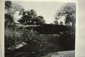 Primary view of object titled '[Thompson Dam & Ditch, (looking upstream toward dam)]'.