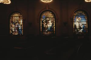 Primary view of object titled '[Lutcher Memorial Church, (stained glass windows)]'.