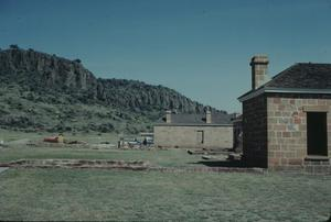 Primary view of object titled '[Fort Davis, (reconstruction of officer's kitchen, row)]'.