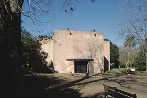 Primary view of object titled '[Rothko Chapel, (main façade (facing north))]'.
