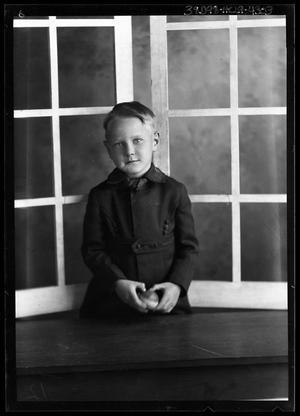 Primary view of object titled '[Portrait of Boy with Ball]'.