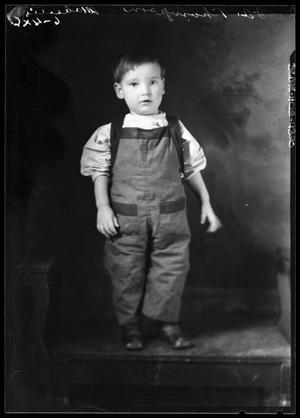 Primary view of object titled '[Portrait of Boy in Overalls]'.