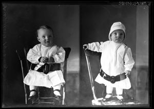 Primary view of object titled '[Portraits of Baby Boy]'.