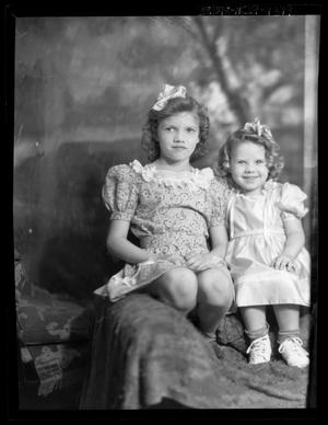 Primary view of object titled '[Portrait of Two Girls]'.