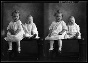 Primary view of object titled '[Portrait of Girl and Baby]'.
