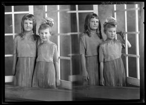 Primary view of object titled '[Portraits of Two Girls]'.