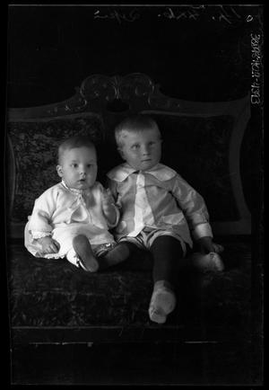 Primary view of object titled '[Portrait of Baby and Boy]'.