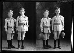 Primary view of object titled '[Portraits of Two Boys]'.
