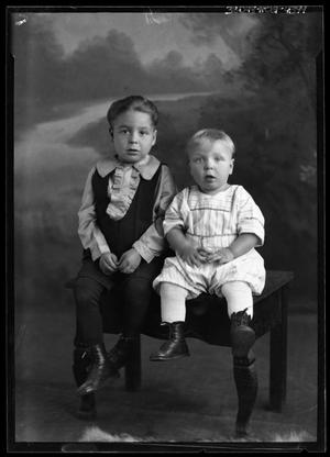 Primary view of object titled '[Portrait of Boy and Baby]'.