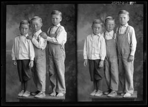Primary view of object titled '[Portraits of Three Boys]'.