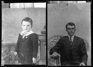 Primary view of object titled '[Portraits of Boy and Man]'.
