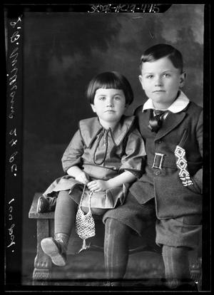 Primary view of object titled '[Portrait of Girl and Boy]'.