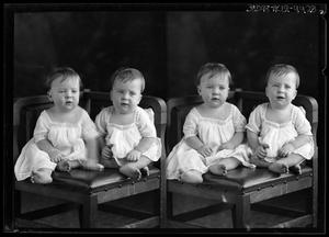 Primary view of object titled '[Portraits of Two Babies]'.