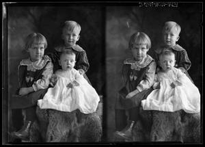 Primary view of object titled '[Portraits of Girl, Boy, and Baby]'.