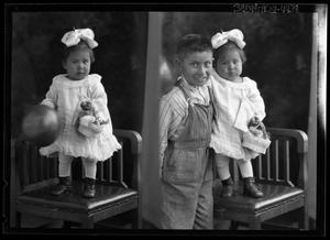 Primary view of object titled '[Portraits of Girl and Boy]'.