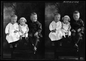 Primary view of object titled '[Portraits of Two Boys and Baby]'.