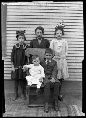 Primary view of object titled '[Portrait of Five Children]'.