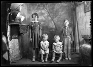 Primary view of object titled '[Portrait of Three Girls and Boy]'.