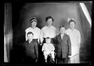 Primary view of object titled '[Portrait of Six Children]'.