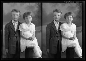 Primary view of object titled '[Portraits of Boy and Girl]'.