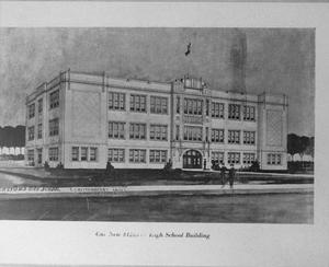 [Drawing of Hereford High School in 1925]