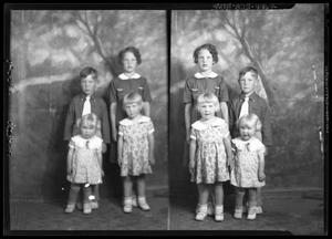 Primary view of object titled '[Portraits of Three Girls and Boy]'.