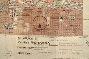 Primary view of object titled '[Clarke &Courts Building]'.