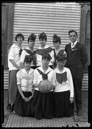 Primary view of object titled '[Girls Basketball Team Portrait]'.