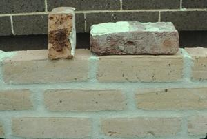 Primary view of object titled '[Marion County Courthouse Annex, (brick sample)]'.