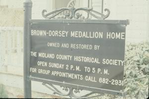 Primary view of object titled '[Brown-Dorsey House, (Sign)]'.