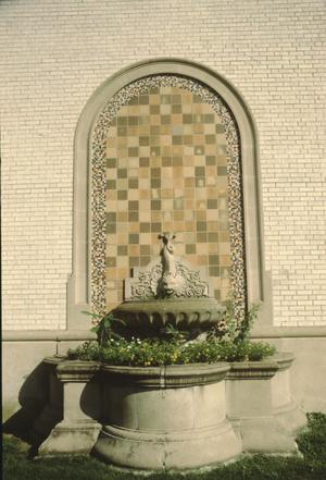 Primary view of object titled '[Wynn Seale School, (NE Pavilion Fountain)]'.