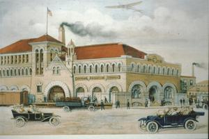 Primary view of object titled '[Dr Pepper Building, (Exterior)]'.