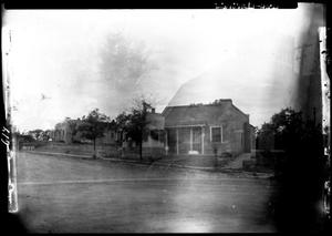 Primary view of object titled '[Photograph of Three Homes]'.