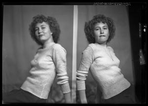 Primary view of object titled '[Portraits of Woman in Sweater]'.