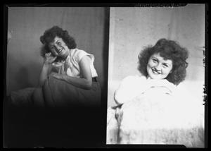 Primary view of object titled '[Portraits of Young Woman]'.