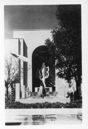 Primary view of object titled '[Administration Building, Texas Centennial Exposition]'.