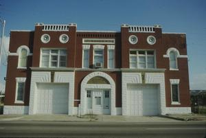 Primary view of object titled '[Fire Station #7, (main façade)]'.