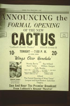 Primary view of object titled '[Cactus Theater]'.