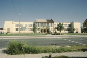 Primary view of object titled '[Wynn Seale School, (north front façade)]'.