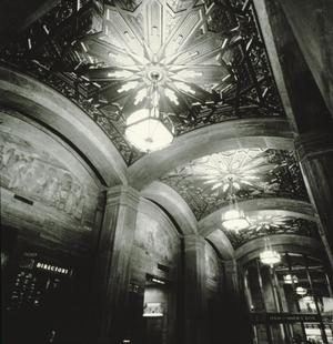 Primary view of object titled '[Gulf Building, (ceiling)]'.