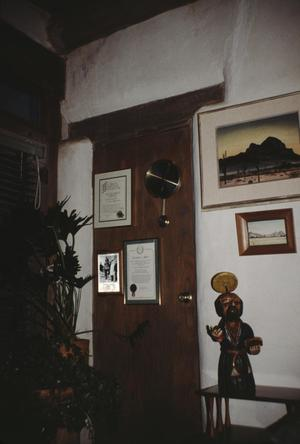 Primary view of object titled '[Casa del Gallo y Sierna - Holden Property, (sealed door from sunroom to El Chico)]'.