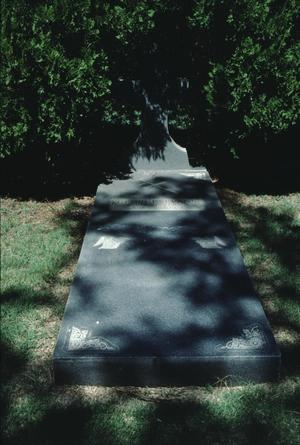 Primary view of object titled '[Llano Cemetery, (gypsy monument)]'.