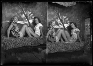 Primary view of object titled '[Portraits of Three Girls]'.