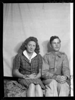 Primary view of object titled '[Portrait of a Woman and a Man]'.